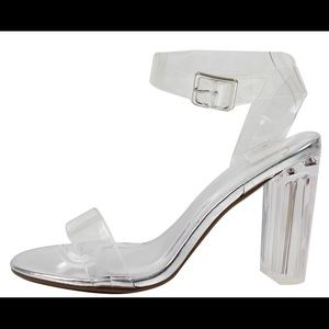 Shoes - Cinderella Clear Ankle Strap Lucite Clear Heel